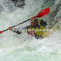 Kayaking tumwater canyon on the Wenatchee river Leavenworth Washington