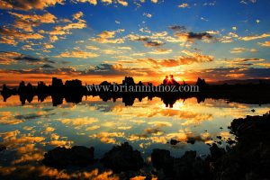 Southshore sunrise reflection Mono Lake Eastern Sierra Nevada California