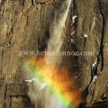 Winter rainbow Yosemite falls Yosemite National Park California
