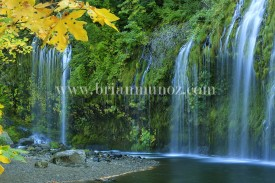 Mossbrae falls on the Sacramento river Dunsmuir California
