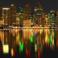 San Diego CA night time winter reflection