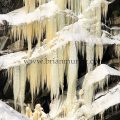 Giant icicles winter in Tumwater-Canyon Leavenworth WA